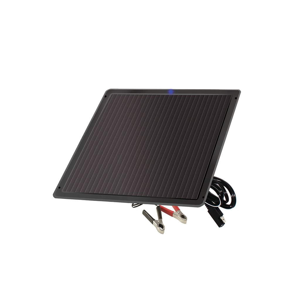 Nature Power 7.5-Watt Amorphous Solar Battery Trickle Charger for 12-Volt Systems