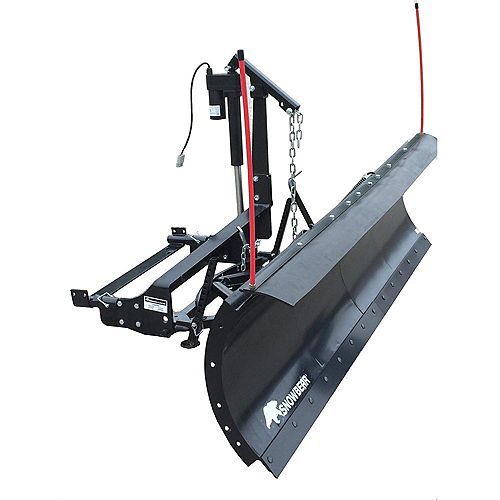 Winter Wolf 84 inch x 22 inch Snow Plow with Custom Mount and Actuator Lift System