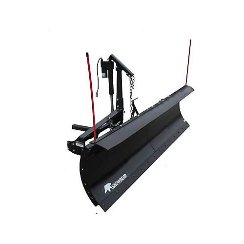 Pro Shovel 82 inch x 19 inch Snow Plow for 2 in. Front Mounted Receiver with Actuator Lift System