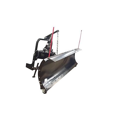 84 inch x 22 inch Snow Plow with Custom Mount and Hydraulic Lift System