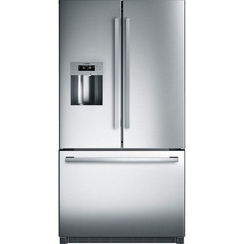 800 Series 36-inch 25 cu.ft. Standard-Depth French Door Refrigerator in Stainless Steel - ENERGY STAR®