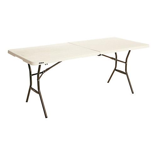 Table pliable Essential, 6 pi, couleur amande