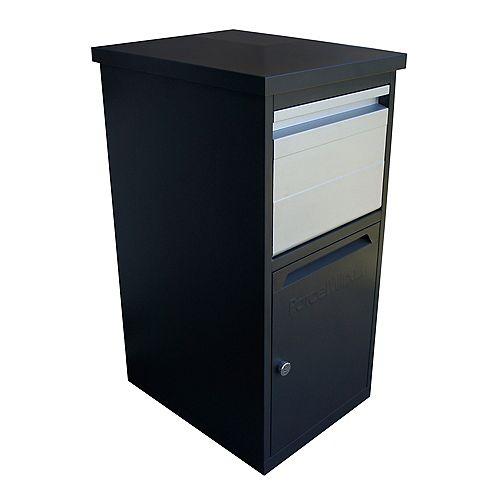 Boîte de dépôt sécuritaire à installation au mur ou au sol, graphite
