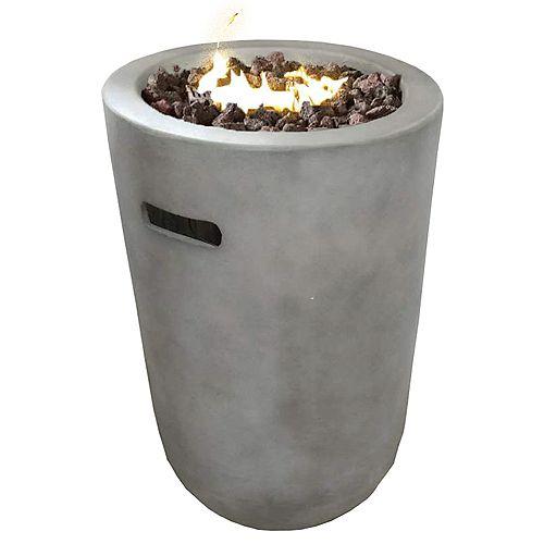 Graphite Propane Fire Column