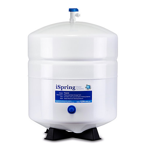 T32M 3.2 Gallon Pressurized Storage Tank for Reverse Osmosis (RO) Systems