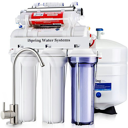 RCC7AK-UV 7-Stage Reverse Osmosis Water Filtration System w/Alkaline Filter & UV Sterilizer