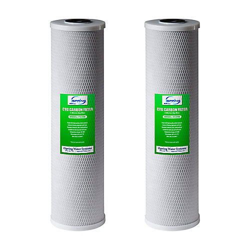 FC25BX2 - 4.5 Inch x 20 Inch Whole House Water Filter CTO Carbon Block - (2-Pack)