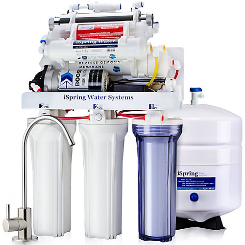 RCC1UP-AK 7Stage RO Water Filtration System w/Booster Pump, Alkaline Filter & UV Sterilizer