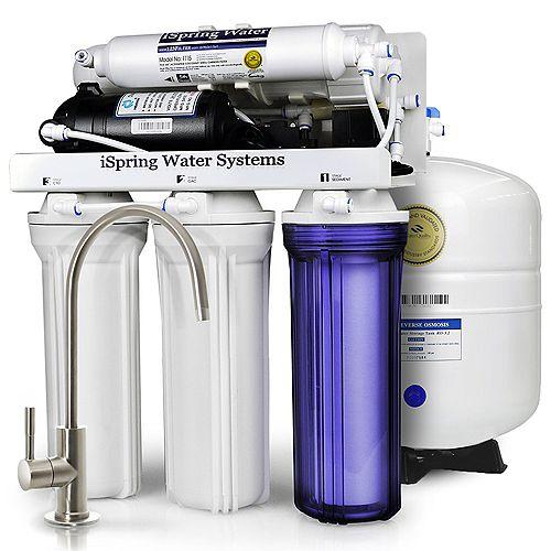 RCC7P Système filtration d Feeteau potable à osmose inverse à 5 étages avec pompe de surpression