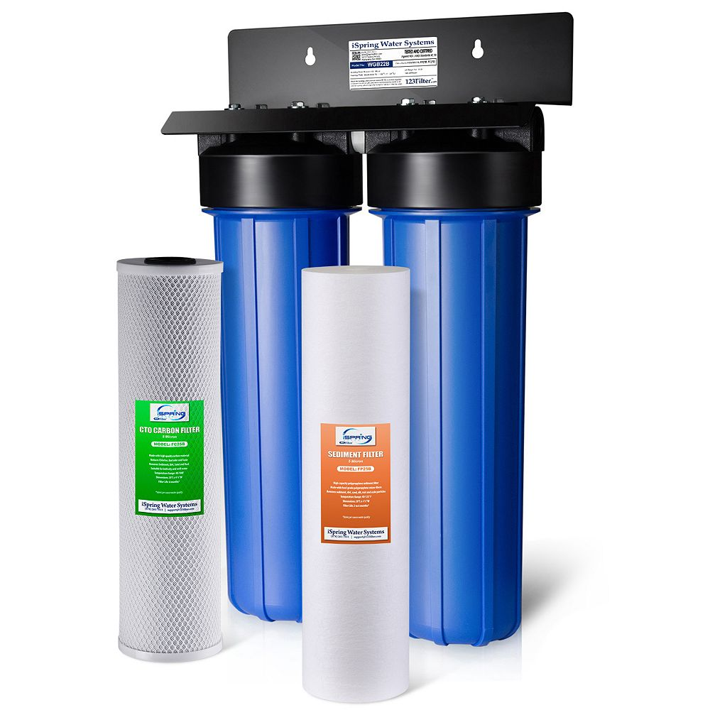 iSpring WGB22B 2-Stage Whole House Water Filtration System