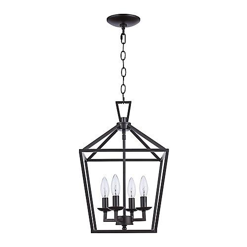 Lacey 4 lumières fini en bronze huilé poncé lanterne pendante