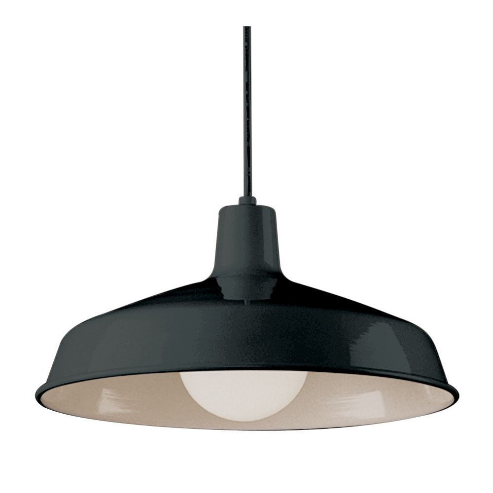 Bel Air Lighting Sherman 1-Light Black Pendant Fixture