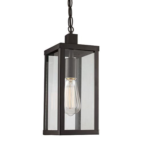 Oxford 1 lumière fini noir lanterne pendante