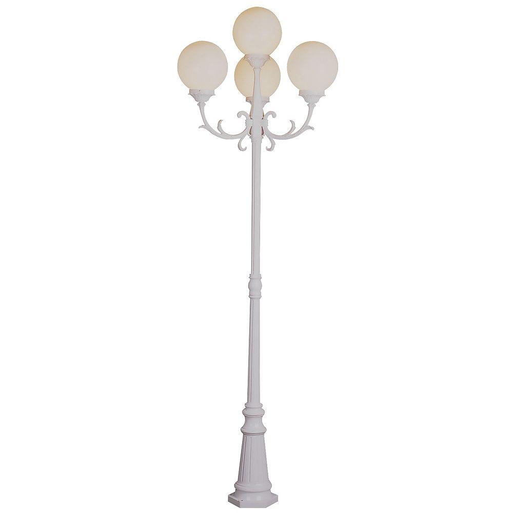 Bel Air Lighting Wilshire 4 lumières fini blanc lanterne lampadaire