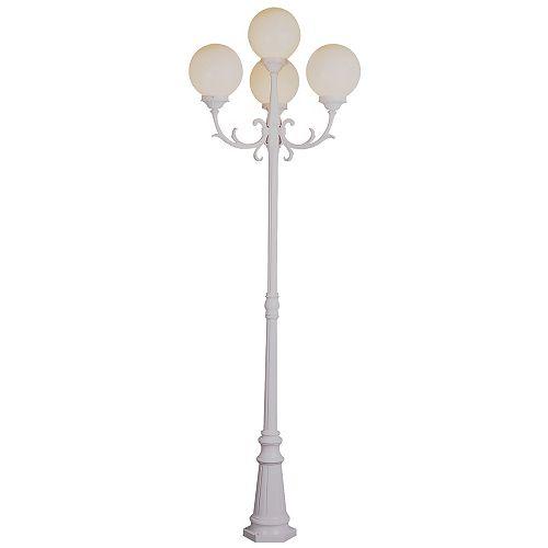Wilshire 4 lumières fini blanc lanterne lampadaire