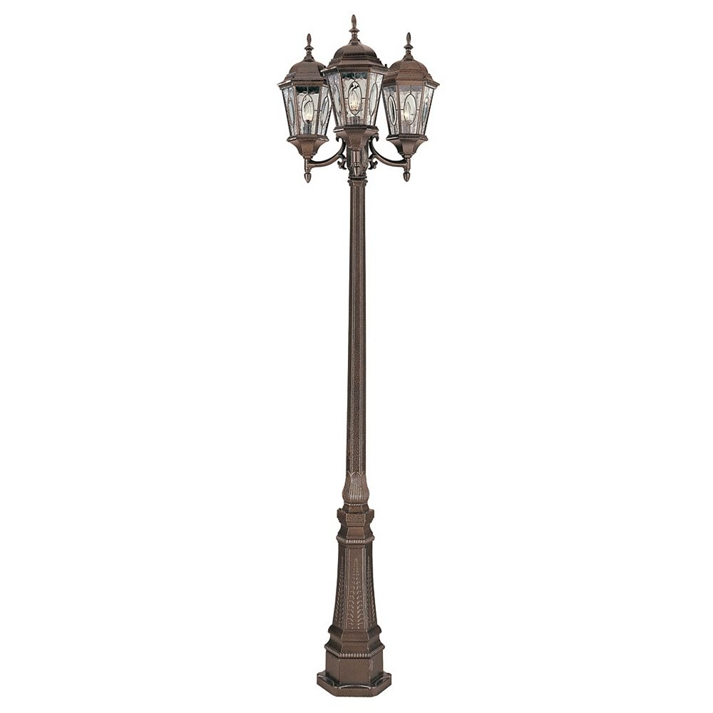 Bel Air Lighting Villa Nueva 3 fini noir bronze lanterne lampadaire