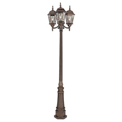 Villa Nueva 3 fini noir bronze lanterne lampadaire