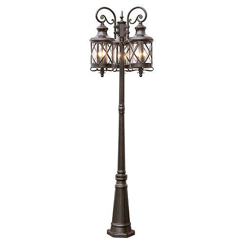 Chandler 9 lumières fini en bronze huilé lanterne lampadaire