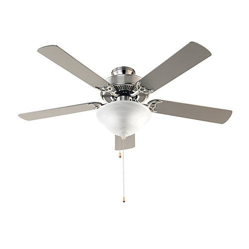 Solana 3-Light Brushed Nickel Ceiling Fan