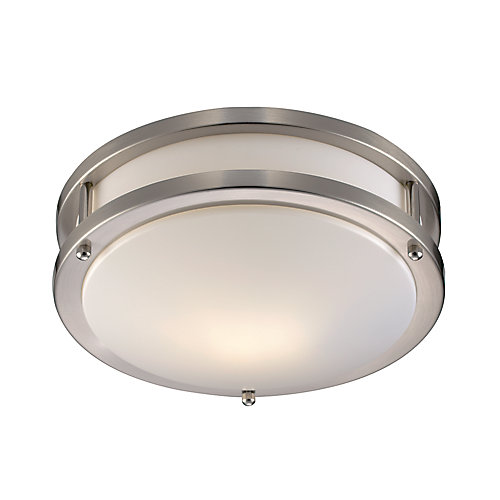 Barnes 1-Light Brushed Nickel Flushmount Light Fixture