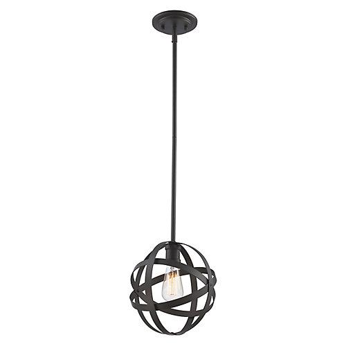 Lumière suspendue à 1 ampoule Sphynx, bronze huilé