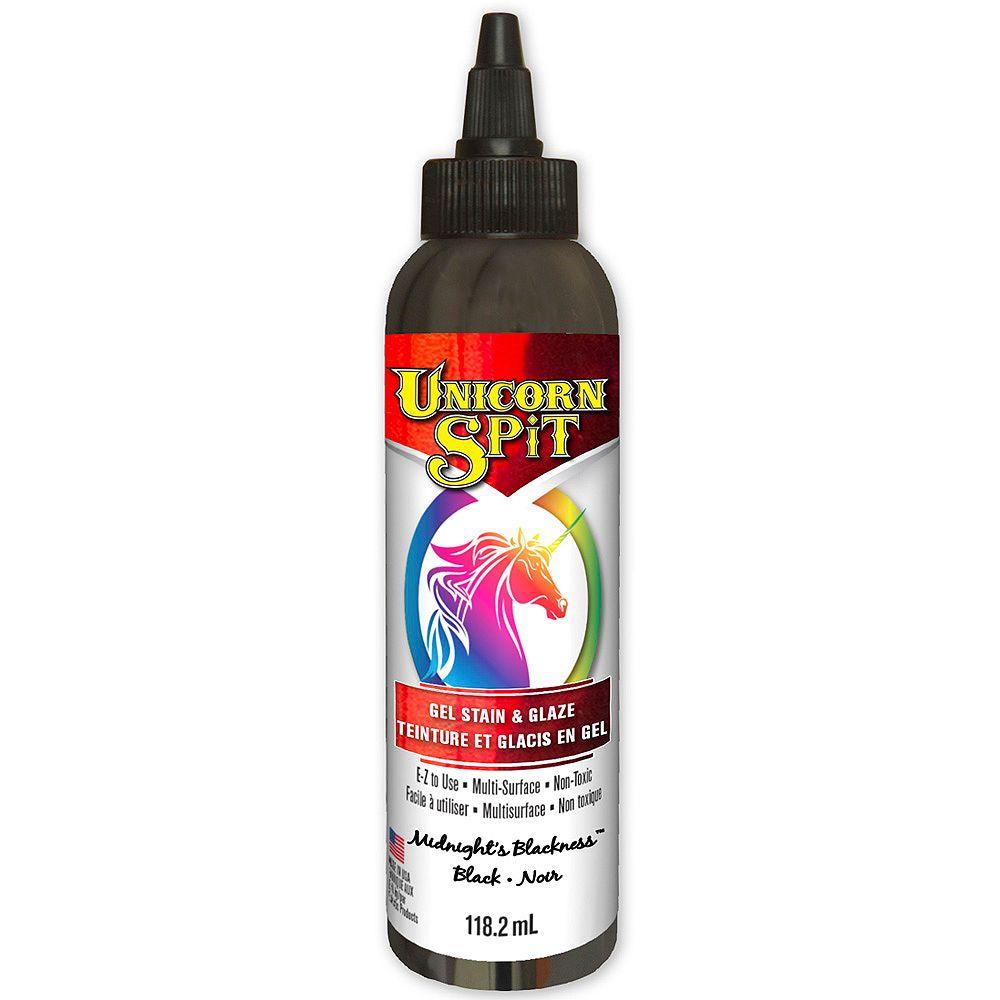 Unicorn SPiT Gel Stain & Glaze Midnight's Blackness 118.2 mL F/E