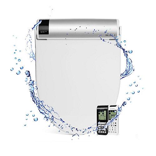 Siège à bidet électrique Bliss BB-2000 pour toilette allongée, blanc