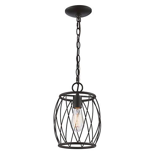 Rhythm 1 lumière fini en bronze huilé poncé lanterne pendante