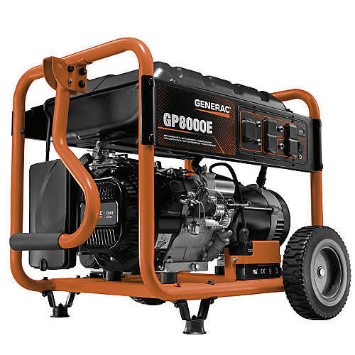 8,000W Gasoline Powered Electric Start Portable Generator