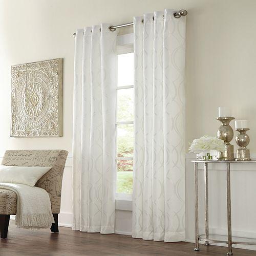 Home Decorators Collection Rideau à oeillets Providence filtrant la lumière - largeur 132 cm x longueur 241 cm, Blanc