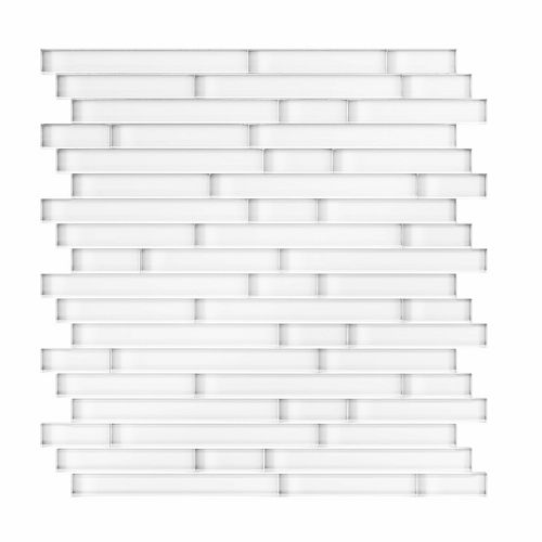 Serenity 11.65-inch x 11.69-inch Glass Self-Adhesive Wall Mosaic Tile