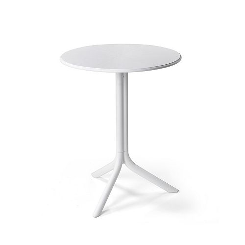 Spritz Outdoor Bistro Table with Two Bases - Bianco