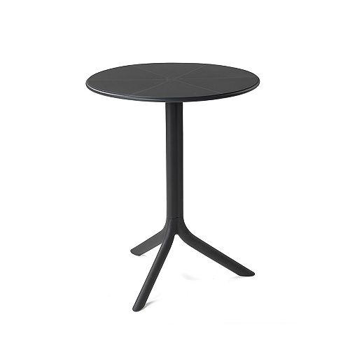 Spritz Table de bistrot en plein air à deux bases- Anthracite