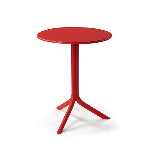 Spritz Outdoor Bistro Table with Two Bases - Rosso