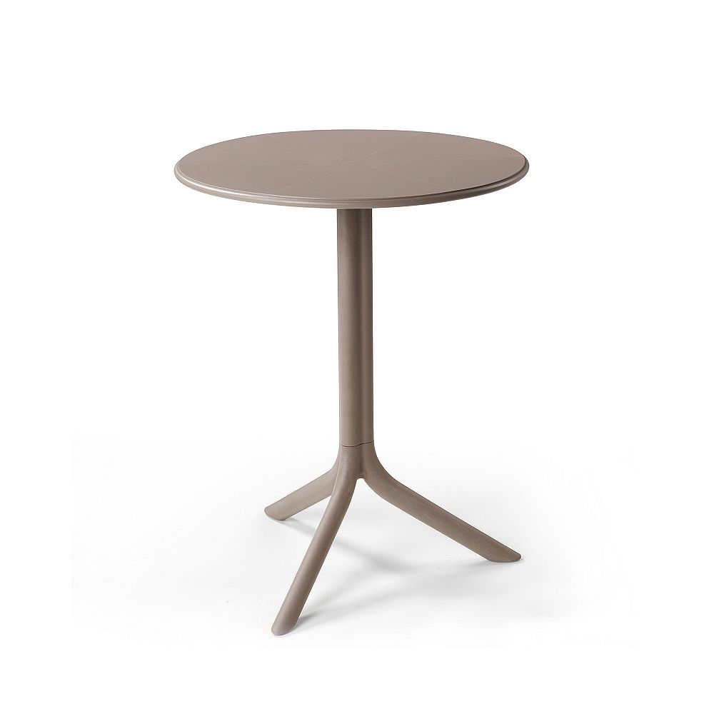 Nardi Spritz Outdoor Bistro Table with Two Bases - Tortora