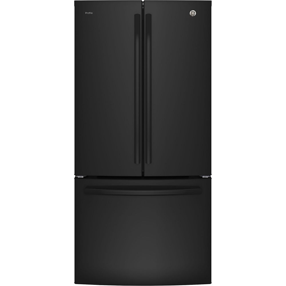 GE Profile 33-inch 24.8 cu.ft. French Door Bottom-Mount Refrigerator in Black