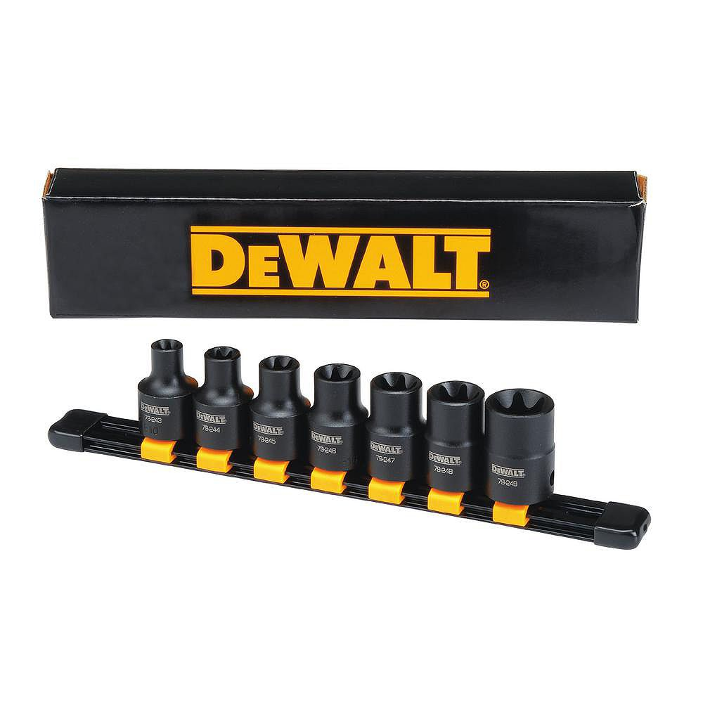 DEWALT 1/2-inch Drive Internal Torx (R) Impact Socket Set (7-Piece)