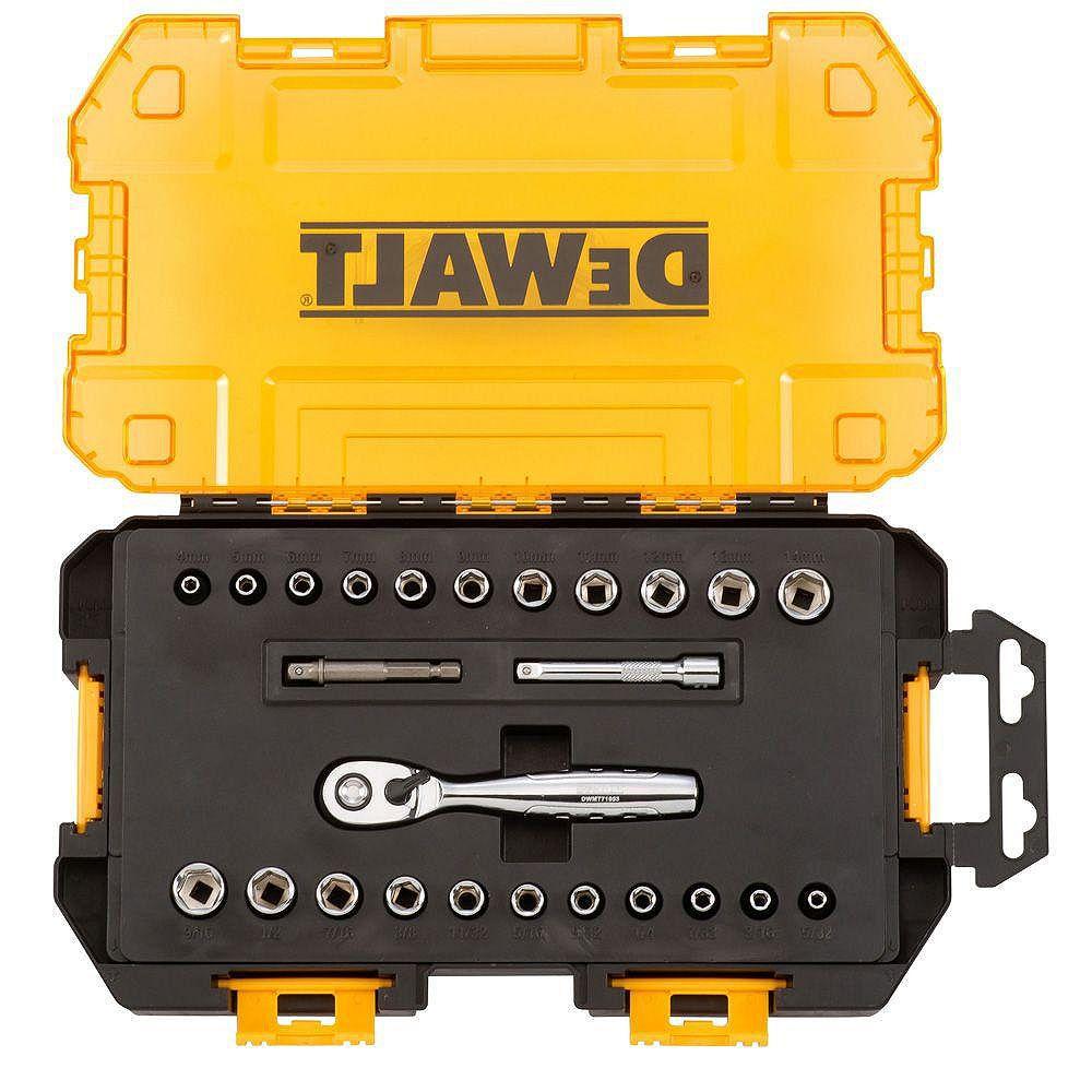 DEWALT 1/4-inch Drive Socket Set (25-Piece)