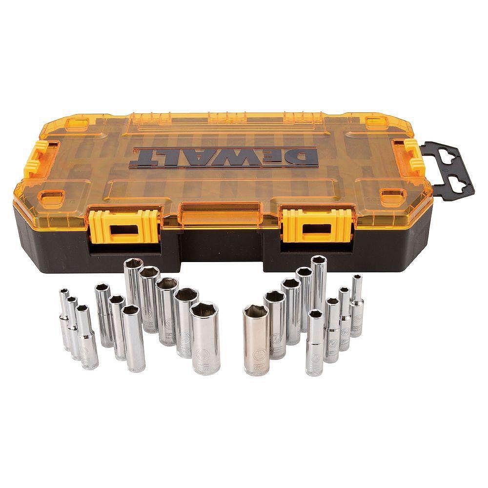 DEWALT 1/4-inch Drive Deep Combination Socket Set (20 Piece)