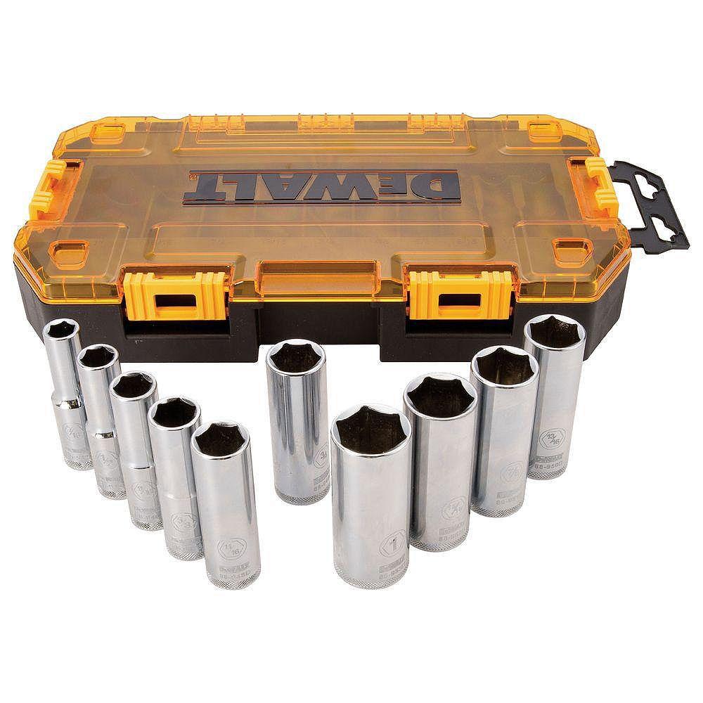 DEWALT 1/2-inch Drive Deep Socket Set (10 Piece)
