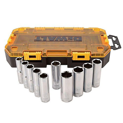DEWALT 1/2-inch Drive Deep Metric Socket Set (10 Piece)