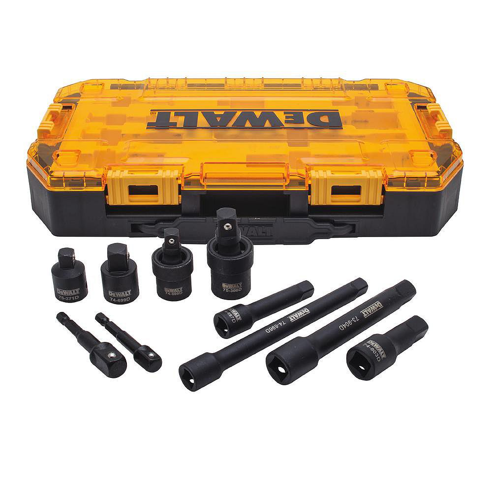 DEWALT 3/8-inch & 1/2-inch Drive Impact Accessory Set (10 Piece)