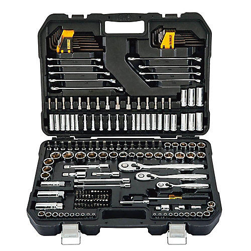 1/4-inch x 3/8-inch Drive Polished Chrome Mechanics Tool Set (200-Piece)