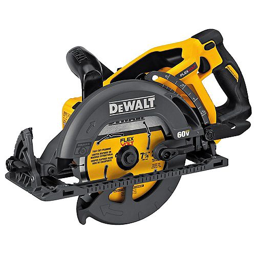 FLEXVOLT 60V MAX Lithium-Ion Cordless Brushless 7-1/4-inch Wormdrive Style Circular Saw (Tool-Only)