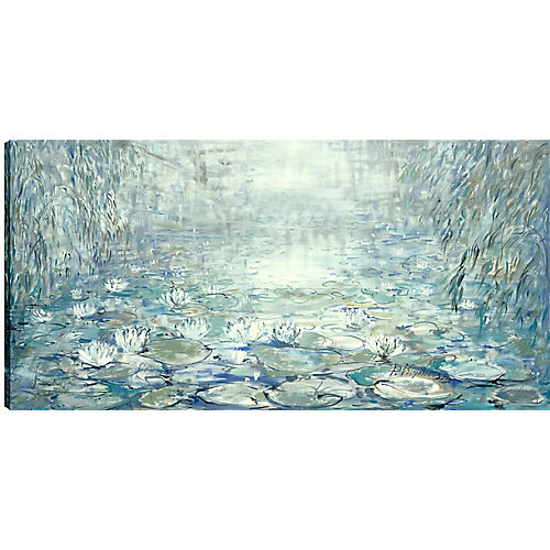30X60 Lily Pads, Printed canvas gallery wrapped wall art