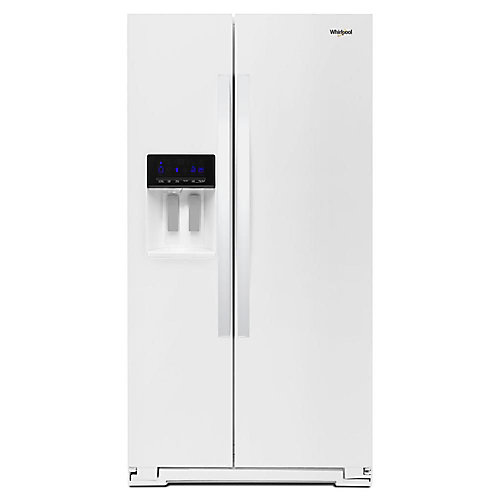 36-inch W 21 cu. ft. Side by Side Refrigerator in White, Counter Depth