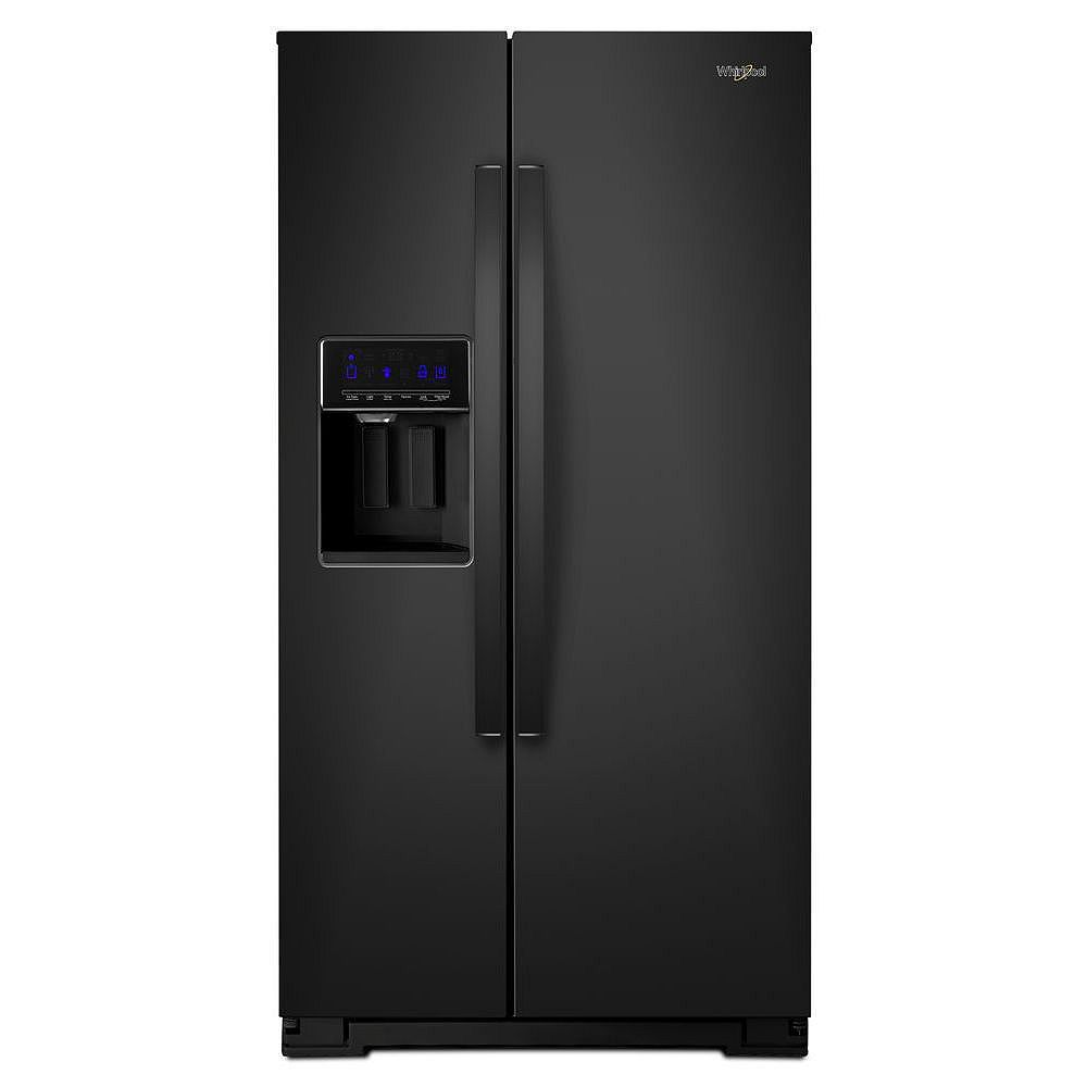 Whirlpool 36-inch W 21 cu. ft. Side by Side Refrigerator in Black, Counter Depth