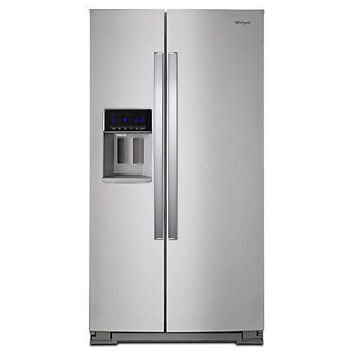 36-inch W 21 cu. ft. Side by Side Refrigerator in Fingerprint Resistant Stainless Steel, Counter Depth
