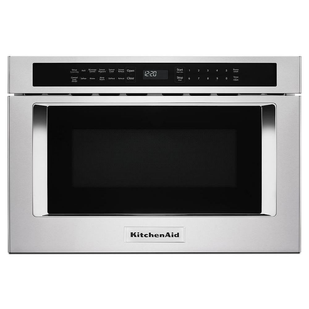 KitchenAid 24-inch Under-Counter Microwave Oven Drawer in Stainless Steel
