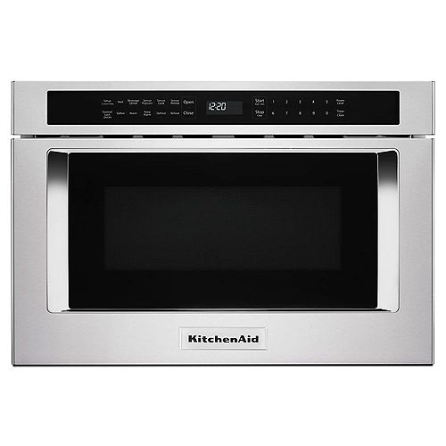 24-inch Under-Counter Microwave Oven Drawer in Stainless Steel